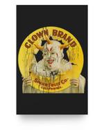 Clown Brand Creepy Vintage Advertising Halloween Matter Poster