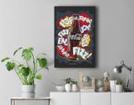 Coca-Cola Retro Comic Pop Fizz Ahhh Bottle Graphic Premium Wall Art Canvas Decor