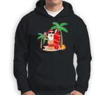Santa Claus Surfing Hawaiian Summer Christmas Outfit Sweatshirt & Hoodie
