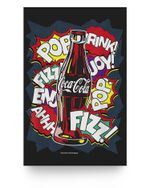 Coca-Cola Retro Comic Pop Fizz Ahhh Bottle Graphic Matter Poster