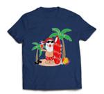 Santa Claus Surfing Hawaiian Summer Christmas Outfit T-shirt