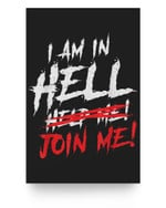 Satan loves me Baphomet Devil 666 In Hell Matter Poster