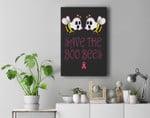 Save The Boobees Boo Bees Breast Cancer Halloween Premium Wall Art Canvas Decor