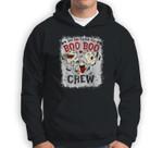 Say Boo To The Flu Boo Boo Crew Halloween Nurses Ghost Mask Sweatshirt & Hoodie
