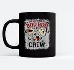 Say Boo To The Flu Boo Boo Crew Halloween Nurses Ghost Mask Ceramic Coffee Black Mugs