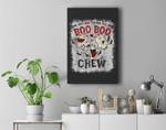 Say Boo To The Flu Boo Boo Crew Halloween Nurses Ghost Mask Premium Wall Art Canvas Decor