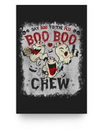 Say Boo To The Flu Boo Boo Crew Halloween Nurses Ghost Mask Matter Poster