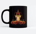 Scarecrow Pumpkin Halloween Ceramic Coffee Black Mugs