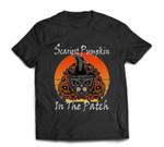 Scariest Pumpkin in The Patch Halloween Cat Jack-O-Lantern T-shirt