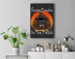 Scariest Pumpkin in The Patch Halloween Cat Jack-O-Lantern Premium Wall Art Canvas Decor