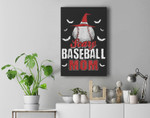 Scary Baseball Mom For Halloween Party Premium Wall Art Canvas Decor