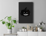 Scary Carved Grungy Pumpkin Face Halloween Costume Premium Wall Art Canvas Decor