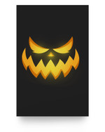 Scary Carved Pumpkin Face Halloween Costume Matter Poster