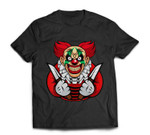 Scary clown as a costume for Halloween celebration T-shirt