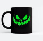 Scary Face Halloween  Frightening Ceramic Coffee Black Mugs