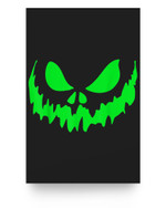 Scary Face Halloween  Frightening Matter Poster