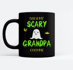 Scary Grandpa Halloween Costume Lazy Easy Ceramic Coffee Black Mugs