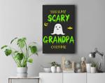 Scary Grandpa Halloween Costume Lazy Easy Premium Wall Art Canvas Decor