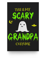 Scary Grandpa Halloween Costume Lazy Easy Matter Poster