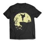 Scary Halloween Taekwondo Martial Arts Tae Kwon Do Full Moon T-shirt