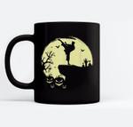 Scary Halloween Taekwondo Martial Arts Tae Kwon Do Full Moon Ceramic Coffee Black Mugs