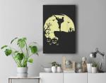Scary Halloween Taekwondo Martial Arts Tae Kwon Do Full Moon Premium Wall Art Canvas Decor