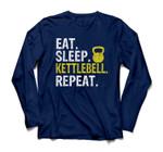 Eat Sleep Kettlebell Repeat Fitness Train Sweatshirt & Hoodie