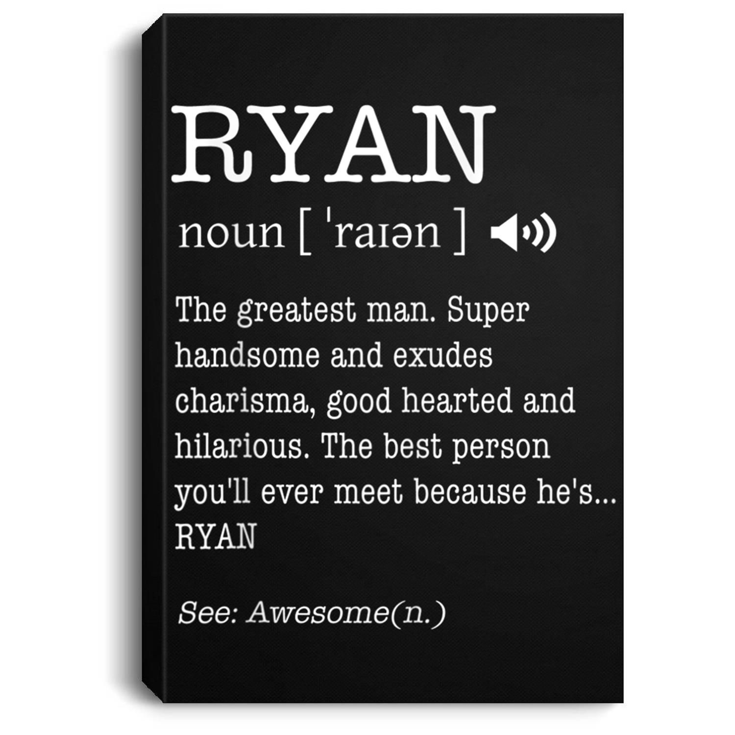 The Name Is Ryan Funny Gift Adult Definition Men's ...