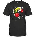 Grinch's Hand Holding A Apple Teacher Funny Shirt