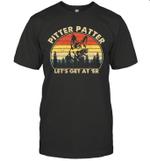 Pitter Patter German Shepherd Dog Let's Get At'Er Vintage Retro T-Shirt