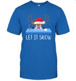 Let It Snow Santa Wine Adult Humor Reindeer Funny Gag Gifts Shirt