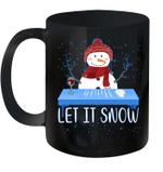 Let It Snow Santa Wine Adult Humor Snowman Funny Gag Gifts Mug