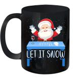 Let It Snow Santa Wine Adult Humor Santa Funny Gag Gifts Mug