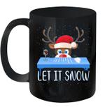 Let It Snow Santa Wine Adult Humor Reindeer Funny Gag Gifts Mug