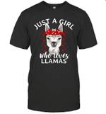 Just A Girl Who Loves Llamas Shirt