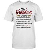 The Grandma Code Hugs Are Mandatory Mom Doesn't Need To Know Shirt