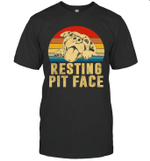Dog Pitbull Resting Pit Face Vintage Shirt
