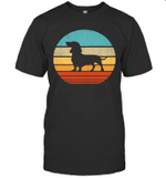 Dachshund Dog Shirt Retro Vintage 60s 70s Silhouette Gift T-Shirt