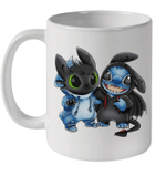 Baby Toothless And Baby Stitch We Are Best Friends Funny Mug