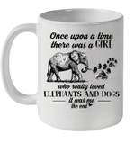 Once Upon A Time There Was A Girl Who Really Loved Elephant And Dogs Mug