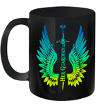 Her Guardian Wings Couple Coffee Mugs