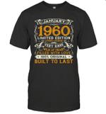 January 1960 Shirt 60 Years Old 60th Birthday Gifts Shirt