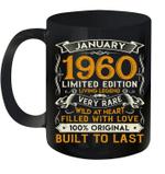 January 1960 Mug 60 Years Old 60th Birthday Gifts Coffee Mug