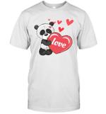 Panda Heart Valentines Day Shirt