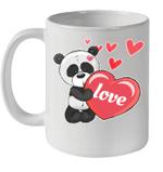 Panda Heart Valentines Day Mug