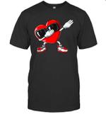 Dabbing Heart Valentines Day Boys Kids Love Dab Dance Gifts Shirt