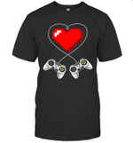 Valentine's Day Video Game Controller Heart Gamer Gift Shirt