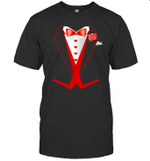 Tuxedo Red Hearts Cool Funny Valentines Day Gift Men Women Funny Shirt
