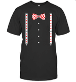 Hearts Bow Tie & Suspenders Valentine's Day Costume Shirt