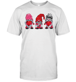 Three Gnomes Holding Hearts Valentine's Day Shirt
